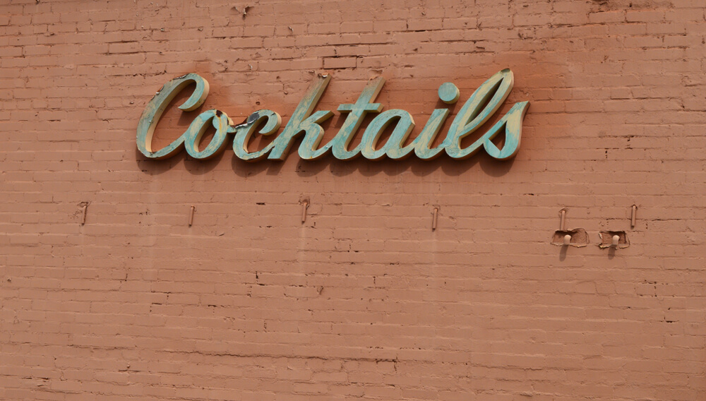 Vintage bar sign cocktails