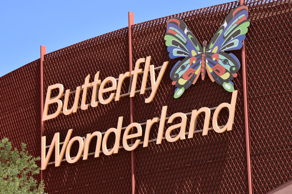 Sign for Butterfly Wonderland