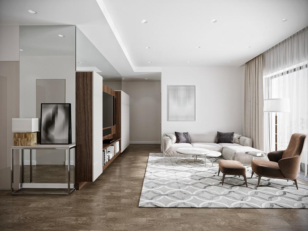 Modern urban contemporary living room