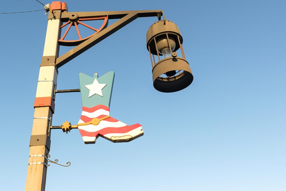 street lantern in old town Scottsdale